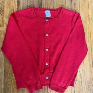 Carter's Girls Button-Down Red Cardigan Size 5
